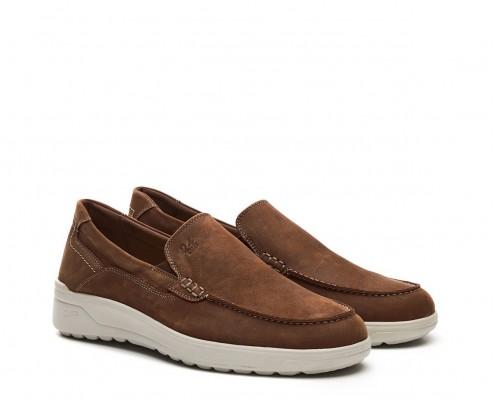 Nubuck leather moccasin