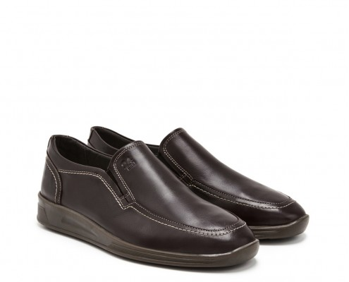 Basic leather moccasin