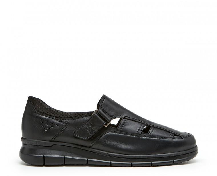 Sandalia piel velcro