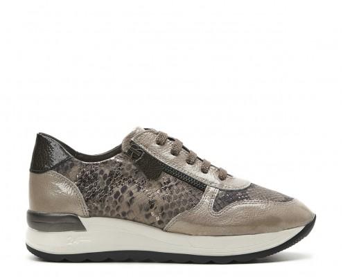Sneaker combinado cremallera