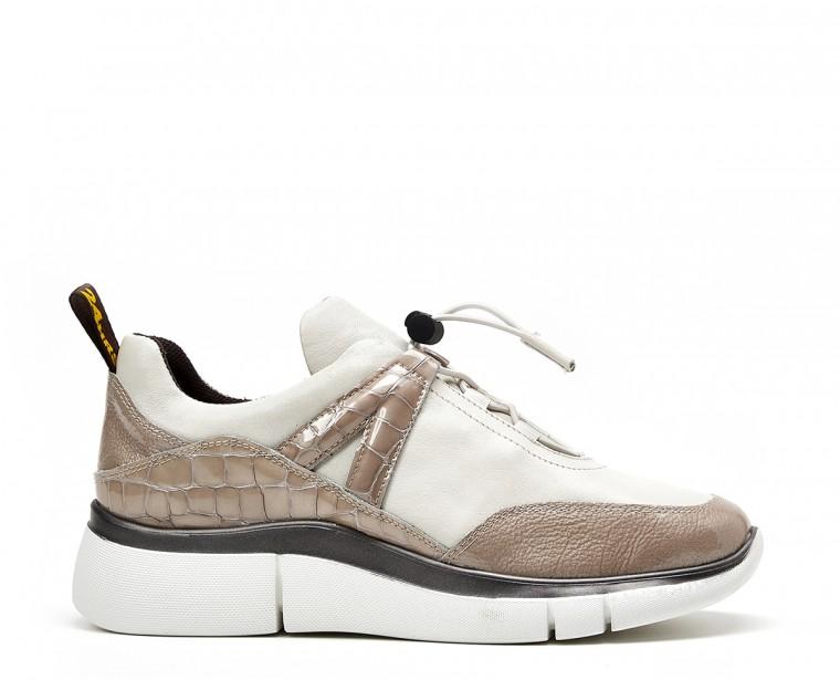 Sneaker combinado cordón elástico