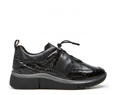 Sneaker combinada cordón elástico